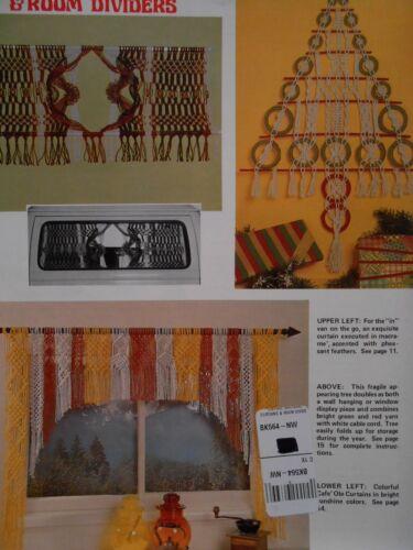 Macrame curtains and room dividers Vintage pattern BOOKLET plant hangers van