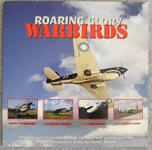 Roaring Glory Warbirds Curtiss P-40 ~ B-17 ~ B-25 Bomber  P-51 Mustang Laserdisc