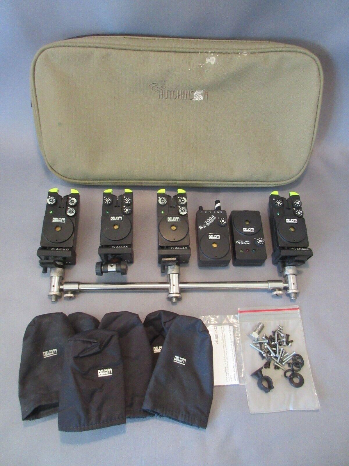 Carp alarms Delkim originals + Rod Hut nson case