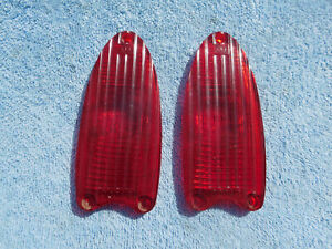 1953-Dodge-Tailight-Tail-Light-Lenes-PAIR-Early-Year