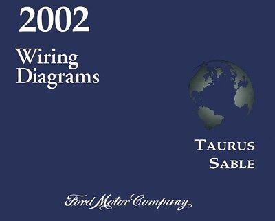 2002 ford taurus mercury sable wiring diagrams schematics  ebay