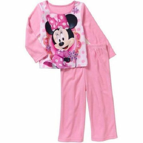 Clothing, Shoes & Accessories Disney Minnie Mouse 2-pc Girl Sleepwear Pajama Set Size 3t Sleeve