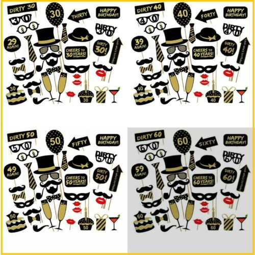 16TH 21st 30th 40th 50th  Birthday Party Masks Favor Photo Booth Props US