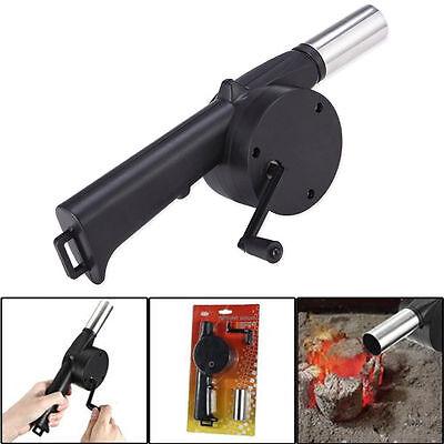 New Barbecue Grill Fan Air Fire Blower Gun Camping Ebay