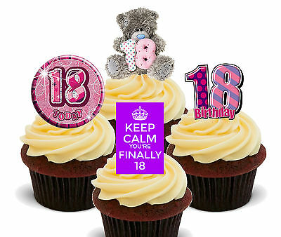 Groovy 18Th Birthday Girl Edible Cupcake Toppers Stand Up Fairy Cake Bun Personalised Birthday Cards Veneteletsinfo