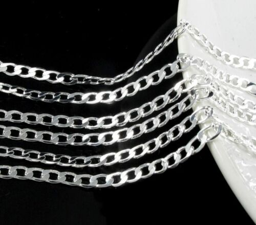 Silver Plated Lots 1////5//10pcs 2mm Flat Snake Chain Necklace 16-24/'/'