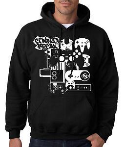 CONTROL-FREAK-HOODIE-Gamer-Sweatshirt-Xbox-One-PS4-Nintendo-Sega-Videogame-Game