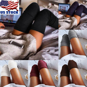 62f8d56c93a US Women Lady Winter Warm Over The Knee Thigh High Soft Socks ...