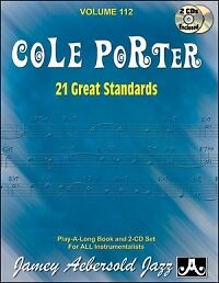 Musical Instruments & Gear Purposeful Aebersold 112 Cole Porter 21 Great Standards Bk/cd Good Companions For Children As Well As Adults Contemporary