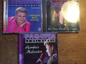 Paquita-la-Del-Barrio-3-CD-Alben-En-vivo-Desde-su-lugar-Hombres-Malvados