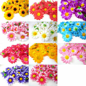 100x gerbera daisy head artificial silk flower wedding 175 bulk image is loading 100x gerbera daisy head artificial silk flower wedding mightylinksfo