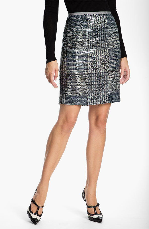 NWT Tory Burch Bristol Sequin Pencil Skirt  375 - 8