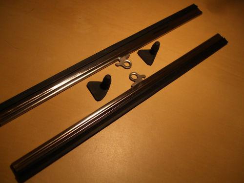 VINTAGE ROVER 10 12 P1 AUSTIN 7 Wiper Blades /& Anatre Piedi Picchetti di fissaggio 8 pollici