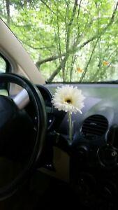 Image is loading VW-WHITE-Silk-Daisy-Flower-&-1-OEM- & VW WHITE Silk Daisy Flower \u0026 1 OEM VW Clear Flower Vase Volkswagen ...