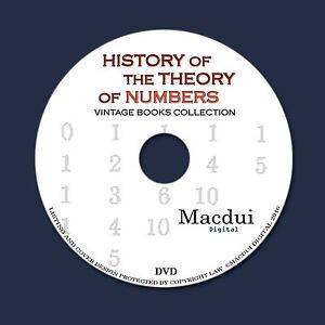 Details about History of the theory of numbers Vintage Ebooks 3 PDF 1 DVD  Mathematics Analysis