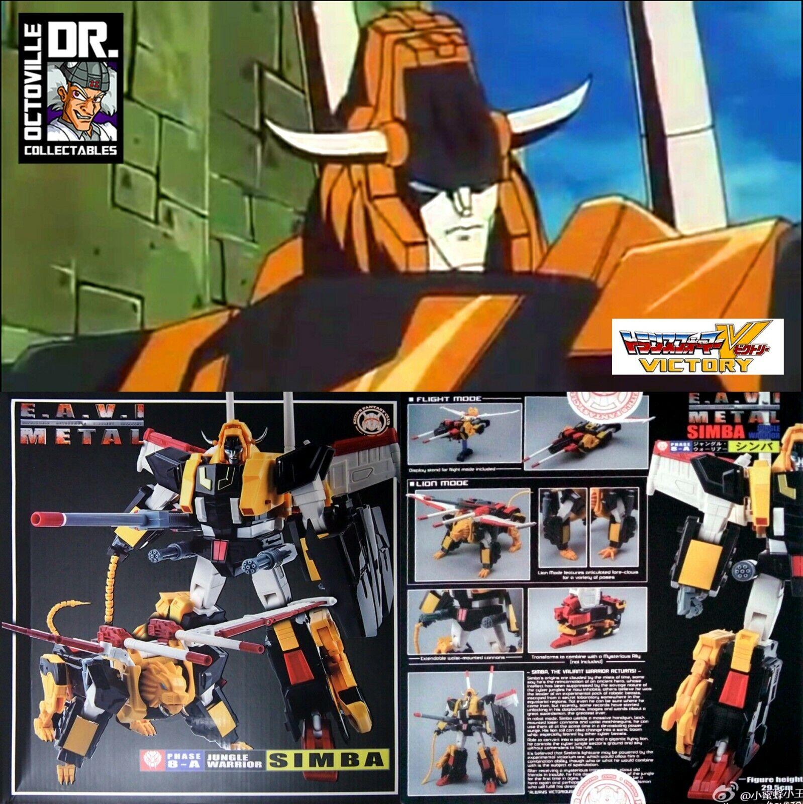 Transformers Masterpiece KFC Toys Jungle Warrior Simba   MP Victory Leo MISB