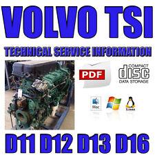 VOLVO TRUCK MANUAL TSI TECHNICAL SERVICE INFORMATION WORKSHOP D11 D12 D13 D16