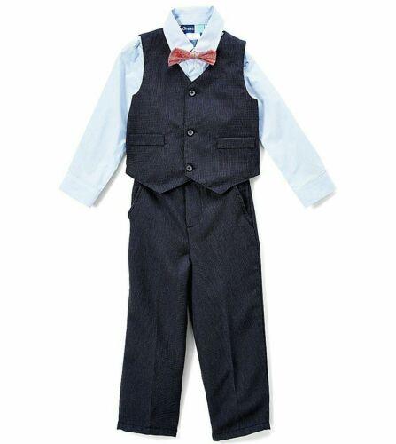 Boys GREAT GUY navy blue suit 2T 3T 4T NWT dress shirt pants vest bow tie outfit