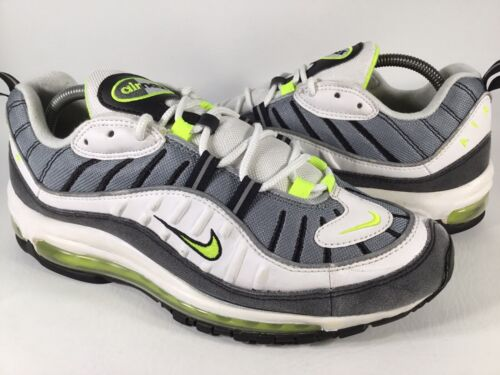 Nike Air Max 98 Cool Grey Neon Volt White Black Me