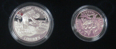 1991-95 WORLD WAR 2  50TH ANNIVERSARY  PROOF SILVER DOLLAR CLAD HALF BOX //COA