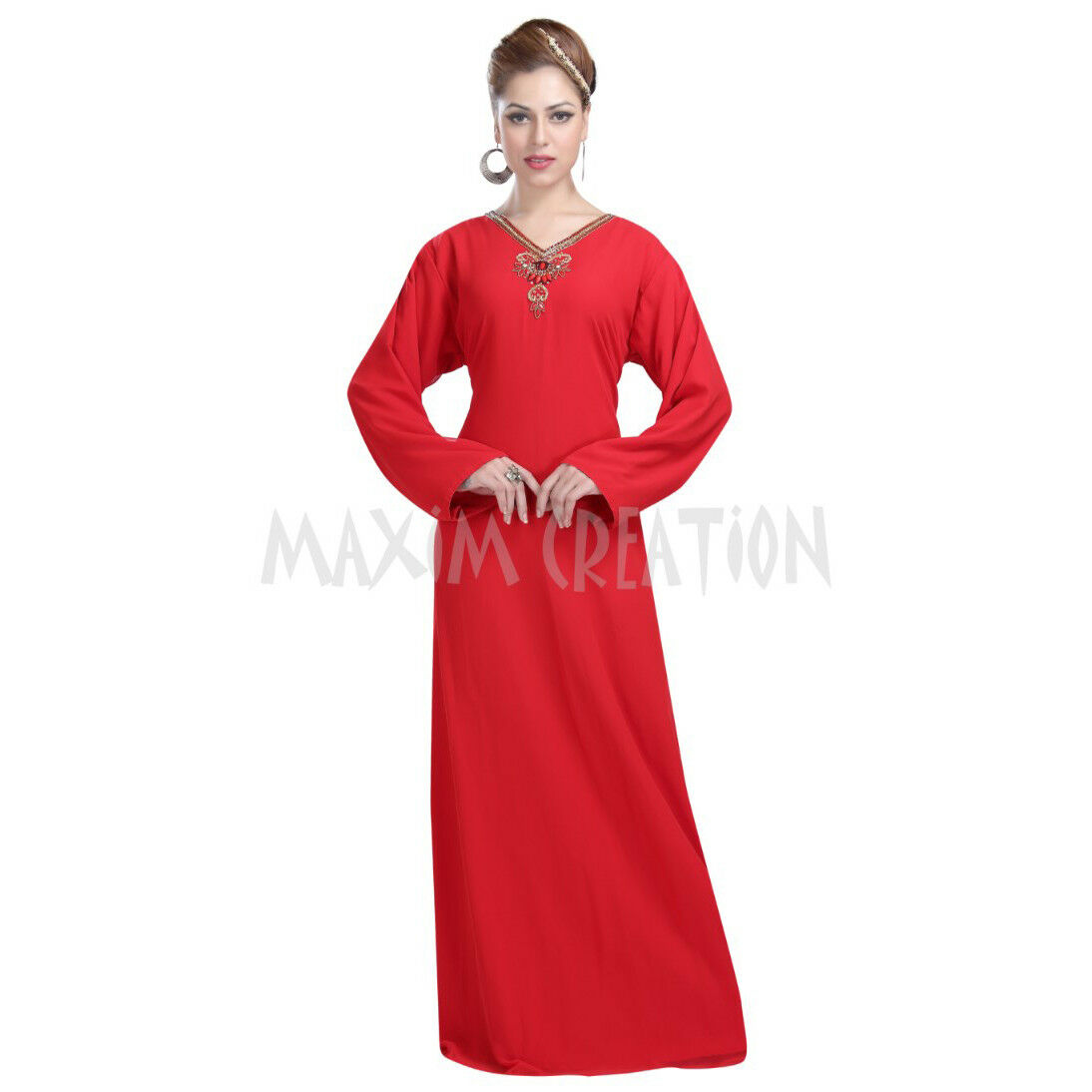 Ladies Long Floor Touch Maxi Dress For Simple Halloween Party Evening Wear 6081