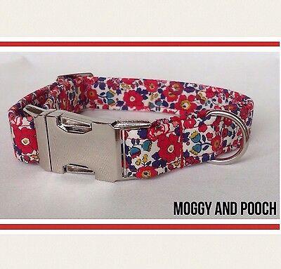 Handmade Liberty Fabric Dog Collar 100/% Cotton Fabric matching lead available