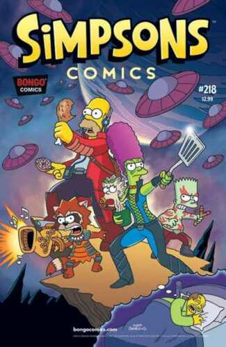 SIMPSONS COMICS #218 NEAR MINT GUARDIANS OF THE GALAXY PARODY COVER #snov16-714
