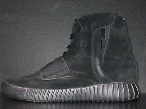 Details about Adidas Yeezy Boost 750 Triple black Suede Size US 13