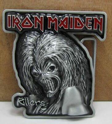 Pewter Belt Buckle Music Iron Maiden NEW