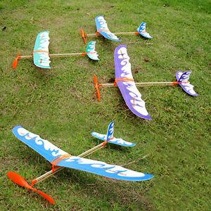 New-Foam-Elastic-Powered-Glider-Plane-Thunderbird-Kit-Aircraft-Flying-Model-C2I7