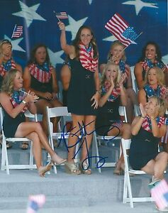 BRITTANY-LANG-signed-LPGA-8x10-SOLHEIM-CUP-photo-with-COA