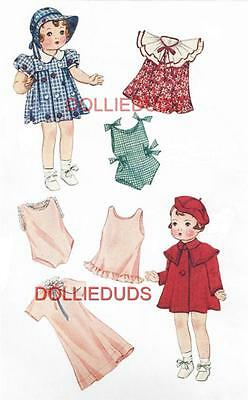 "VINTAGE 14"" PATSY DOLL CLOTHES PATTERN 1901"