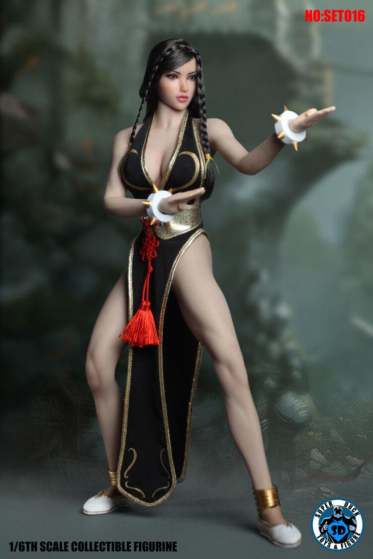 1 6 súper Pato SET016 Arte Marcial figura femenina Fighte con Tbleague S21B