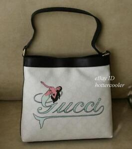 4526093b905 New Gucci GG Plus Mermaid Tattoo Meier Hobo BAG Handbag 2 254639 ...