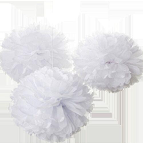 """Pack de 5 papier tissu pompons pour mariage noël /& décorations de fête 16/"""""""