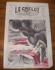 Le Grelot Journal Satirique N°129 Le Reveil Par Alfred Le Petit du 28/09/1873