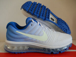 Details about MENS NIKE AIR MAX 2017 ID WHITE BLUE SZ 8