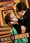 Witness to Murder (2014 Region 1 DVD New)