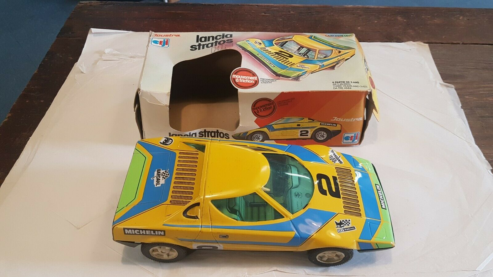 Lancia Stratos HF  Friction Drive  Ref 2209 Made in France Boxed