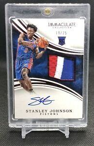 2015-16-Immaculate-119-STANLEY-JOHNSON-RC-Rookie-Patch-Auto-RPA-25-Pistons