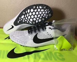 Nike Zoom Victory 3 Track Spikes White Black Dark Grey SZ Mens New ... af95b74a2