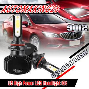 LED Headlight Kit 9012 6000K White Bulbs Low Beam for CADILLAC ATS 2013-2017