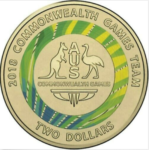2018 $2 COMMONWEALTH GAMES TEAM GREEN COLOUR TWO DOLLAR   AUSTRALIA