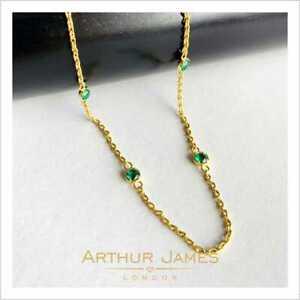 Cadena-Sin-Colgante-3-50-CT-corte-de-la-esmeralda-colombiana-piedras-preciosas-Diamante-Verde-Oro