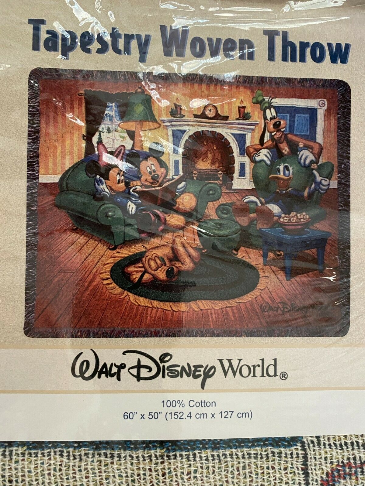 """New Disney/'s Fort Wilderness Resort And Campground Tapestry Woven Throw 50/""""x60/"""""""