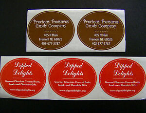 Custom Oval Labels Printed Business Stickers Color Roll - Custom business stickers