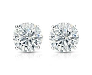 4-Ct-Diamond-Stud-Earrings-Round-Diamond-Solitaire-Stud-Earrings-14K-White-Gold