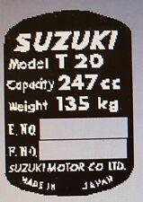 SUZUKI T20 HEADSTOCK FRAME RESTORATION DECAL