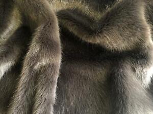 Super Luxury Faux Fur Fabric Material BEIGE CHINCHILLA