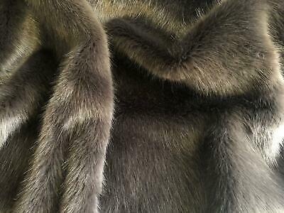 SWISS CHARCOAL Super Luxury Faux Fur Fabric Material